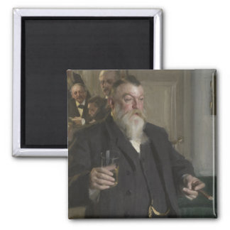 A Toast In the Idun Society by Anders Zorn 2 Inch Square Magnet