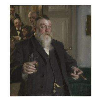 A Toast In the Idun Society by Anders Zorn Poster