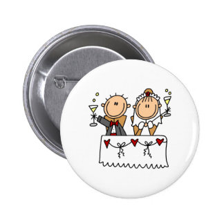 A Toast To The Bride And Groom Button