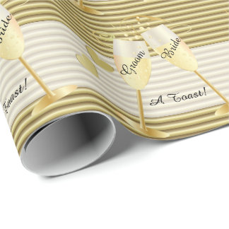 A Toast to the Bride and Groom Wedding | DIY Text Wrapping Paper