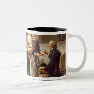 A toast to the engaged couple Two-Tone coffee mug