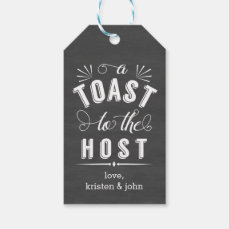 A Toast to the Host | Vintage Chalkboard Wine Gift Tags
