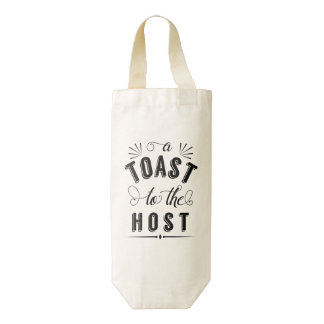 A Toast to the Host | Vintage Typography Zazzle HEART Wine Bag