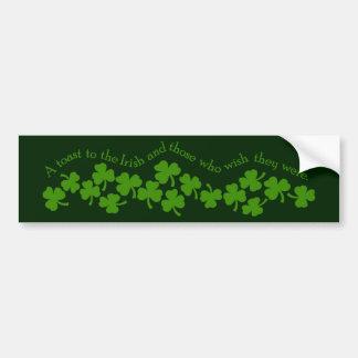 A Toast to the Irish Bumper Sticker