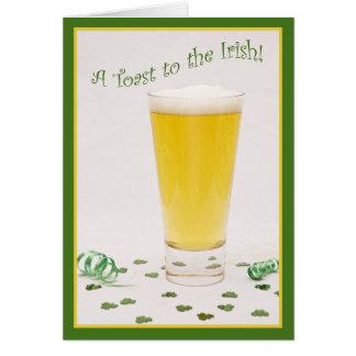 A Toast to the Irish! Card