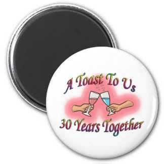 A Toast To Us 2 Inch Round Magnet