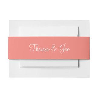 A todo color exclusivo del rosa coralino cintas para invitaciones