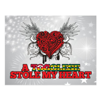 A Togolese Stole my Heart Postcard