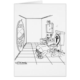 A Toilet Embarrassed by a Butt Crack Card