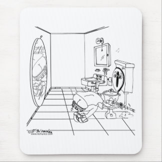 A Toilet Embarrassed by a Butt Crack Mouse Pad