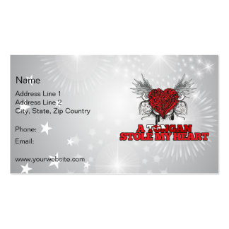 A Tongan Stole my Heart Business Cards