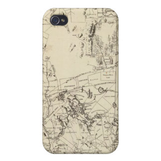 A Topographical Map Cover For iPhone 4