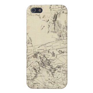 A Topographical Map Cover For iPhone SE/5/5s