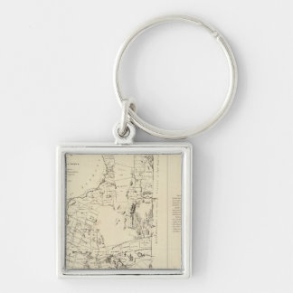 A Topographical Map Keychain