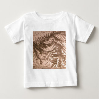 A topographical map t shirt