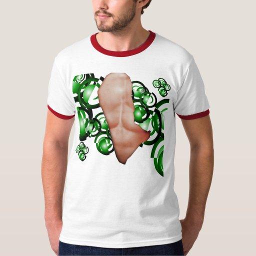a torn T-Shirt