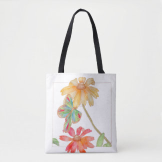 A tote with floral style