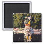 A totem pole In Vancouver, Canada. 2 Inch Square Magnet