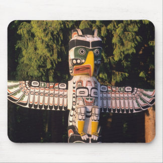 A totem pole In Vancouver, Canada. Mouse Pad