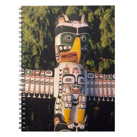 A totem pole In Vancouver, Canada. Notebook