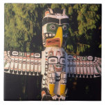 A totem pole In Vancouver, Canada. Large Square Tile