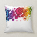 A touch of Color Multicolor Modern Throw Pillow