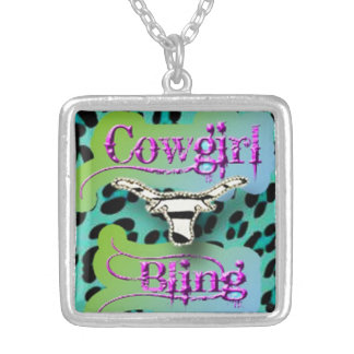 A Touch Of Cowgirl Bling, altered art pendant