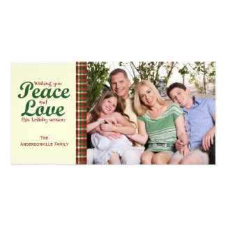 A Touch Of Holiday Plaid Photo Card