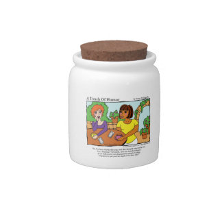 """""""A Touch of Humor"""" Anesthesiologist Massage Comic Candy Jar"""