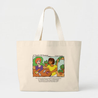 """""""A Touch of Humor"""" Anesthesiologist Massage Comic Large Tote Bag"""