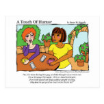 """""""A Touch of Humor"""" Anesthesiologist Massage Comic Post Card"""