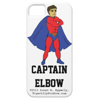 """""""A Touch of Humor"""" Captain Elbow iPhone 5 Cover"""