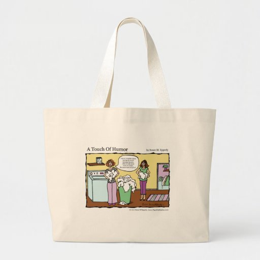 """""""A Touch of Humor"""" Loads of Whites Comic Jumbo Tote Bag"""