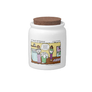A Touch of Humor Loads of Whites Massage Comic Candy Jars