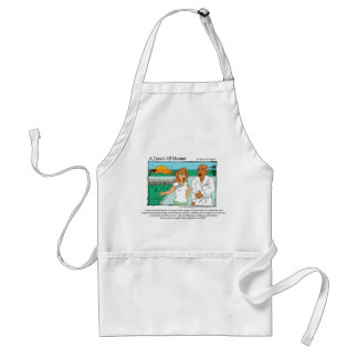 """""""A Touch of Humor"""" Spa Massage Cannibal Comic Adult Apron"""