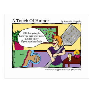 """A Touch of Humor"" Spatula Massage Therapy Comic Postcard"