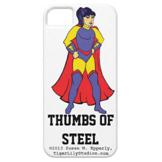 """""""A Touch of Humor"""" Thumbs of Steel iPhone 5 Cases"""