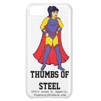 """""""A Touch of Humor"""" Thumbs of Steel iPhone 5C Cover"""