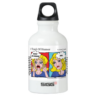 """""""A Touch of Humor"""" Unshaven Legs Comic SIGG Traveler 0.3L Water Bottle"""