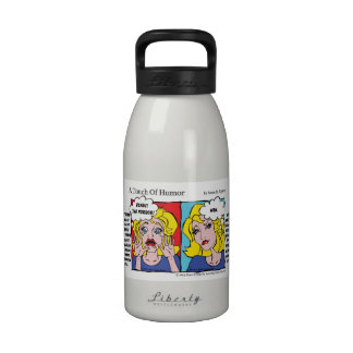 """A Touch of Humor"" Unshaven Legs Comic Reusable Water Bottle"
