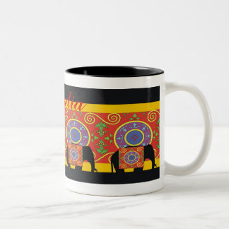 A touch of India Two-Tone Coffee Mug