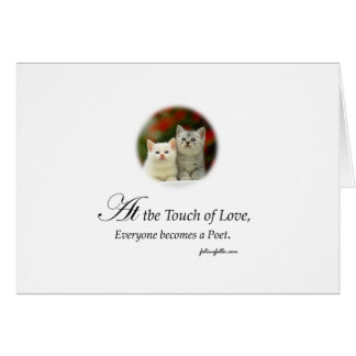 A Touch of Love Greeting Card