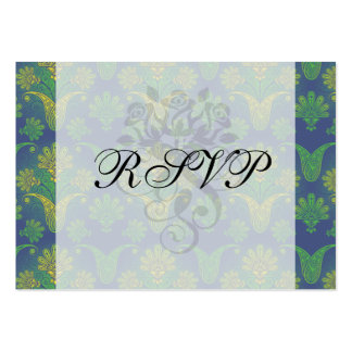 a touch of peacock damask design 2 business card