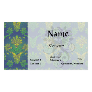 a touch of peacock damask design 2 business card template
