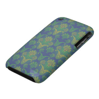 a touch of peacock damask design 2 iPhone 3 Case-Mate cases