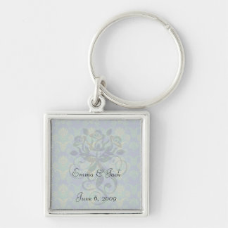 a touch of peacock damask design 2 key chains