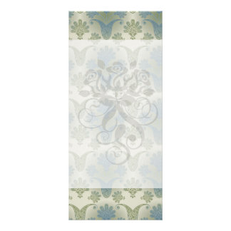 a touch of peacock damask design full color rack card