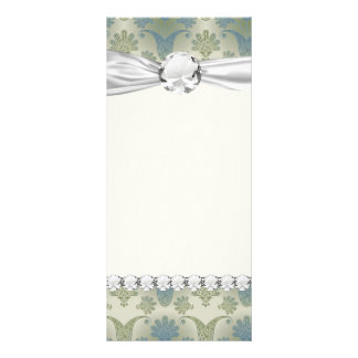 a touch of peacock damask design rack cards
