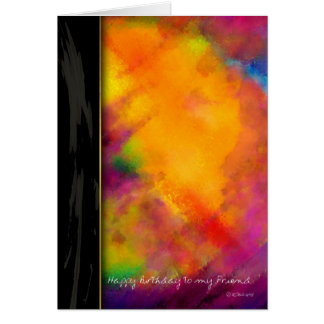 A touch of Purple-BDF Greeting Card