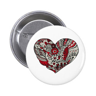A touch of red pinback button